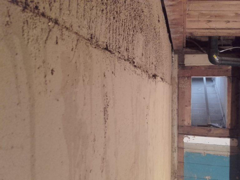 Übergang Lehmplatten zum Oberen Putz